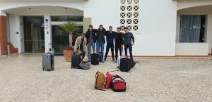 Voor de terugreis nog een laatste teamfoto
